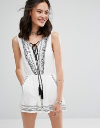 Raga Like A Charm Tassel Tie Dress - White