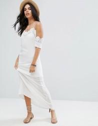 Raga Lotus Crochet Trim Maxi Dress - White