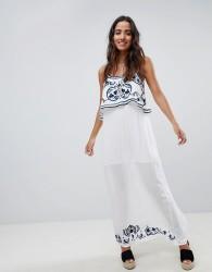 Raga Mediterranean Embroidered Maxi Dress - Blue