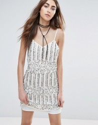 Raga Mystic Moon Embellished Dress - Cream