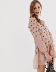 Raga Seeing Stars embellished dress - Pink