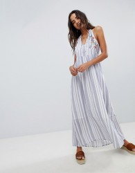 Raga Setting Sail Halterneck Maxi Dress - Blue