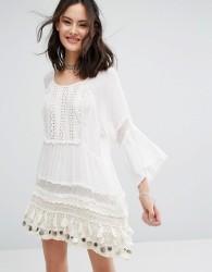 Raga Sun Goddess Coin Tunic Dress - White