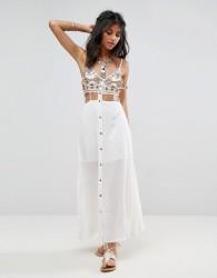 Raga Taos Cutout Maxi Dress - Cream