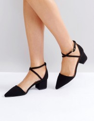 RAID Avia Black Cross Strapped Heeled Shoes - Black