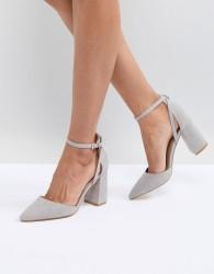 RAID Katy Grey Block Heeled Shoes - Grey