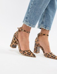 RAID Katy patent leopard print heeled shoes - Multi