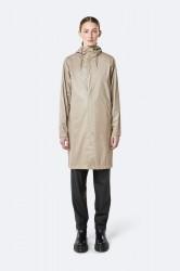 Rains Dame Coat - ShinyBeige