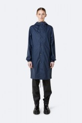 Rains Dame Fishtail Parka - Blue