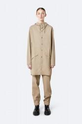 Rains Dame Long Jacket - Beige