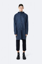 Rains Dame Long Jacket - Blue