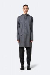 Rains Dame Long Jacket - Charcoal