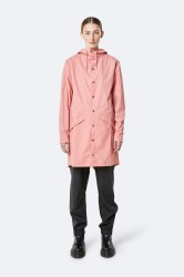 Rains Dame Long Jacket - Coral