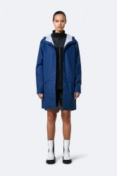 Rains Dame Long Jacket - TrueBlue