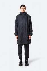 Rains Dame Long Quilted Parka - Black