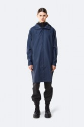 Rains Dame Long Quilted Parka - Blue