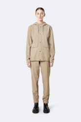 Rains Dame Short Hooded Coat - Beige