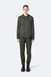 Rains Dame Short Hooded Coat - Green