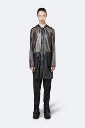 Rains Dame Transparent Hooded Coat - FoggyBlack