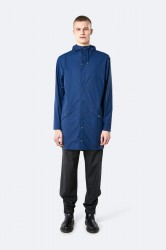 Rains Herre Long Jacket - TrueBlue