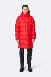 Rains Herre Long Puffer Jacket - Red