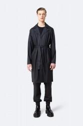 Rains Herre Overcoat - Black