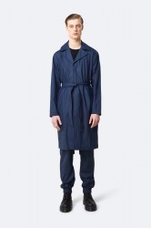 Rains Herre Overcoat - Blue