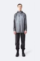 Rains Herre Short Coat - MetallicCharcoal