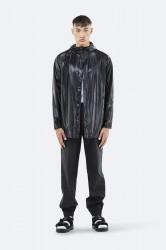 Rains Herre Short Coat - ShinyBlack