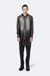 Rains Herre Transparent Hooded Coat - FoggyBlack