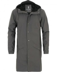 Rains Long Jacket Charcoal men XS/S Grå