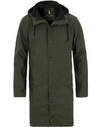 Rains Long Jacket Green men M/L Grøn