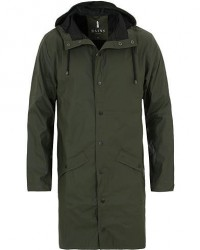 Rains Long Jacket Green men XXS/XS Grøn