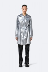 Rains Long W Jacket - Silver