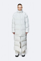 Rains Show Extra Long Zip Off Puffer - OffWhite