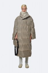 Rains Show Puffer Wrap Coat - VelvetTaupe