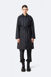 Rains W Trench Coat - Black