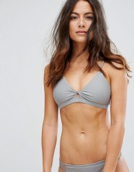 Raisins Macrame Bikini Top - Grey