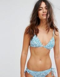 Raisins The Wave Tie Side Bikini Top - Blue