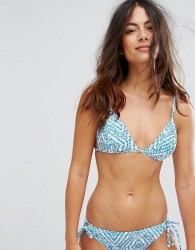 Raisins the wave triangle bikini top - Blue