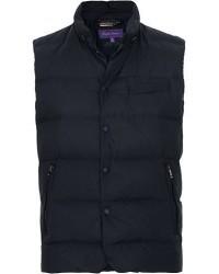 Ralph Lauren Purple Label Whitwell Matt Nylon Vest Chairman Navy men S Blå