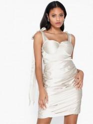 Rare London Satin Statement Tie Strap Dress Tætsiddende kjoler