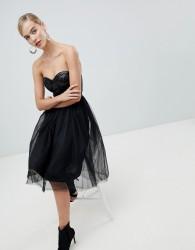 Rare London sequin bustier tutu dress - Black
