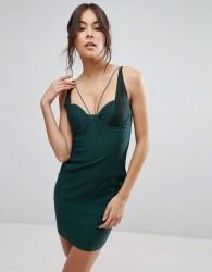 Rare Mesh Panel Mini Dress - Green