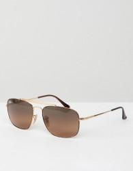 Ray-Ban 0RB3560 aviator sunglasses - Gold