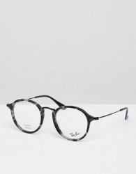 Ray-Ban 0RX2447V round optical frames with demo lenses - Black