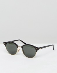 Ray-Ban Clubmaster Round Sunglasses 0RB4246 - Black