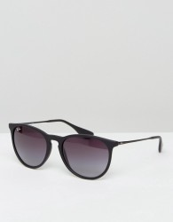 Ray-Ban Erika Keyhole Sunglasses In Black RB4171 622/8G - Black