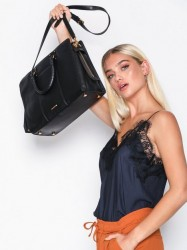 Rebecca Minkoff Bree Lg Top Zip Satchel Håndtaske Sort