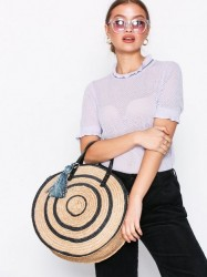 Rebecca Minkoff Straw Circle Tote Håndtaske Sort